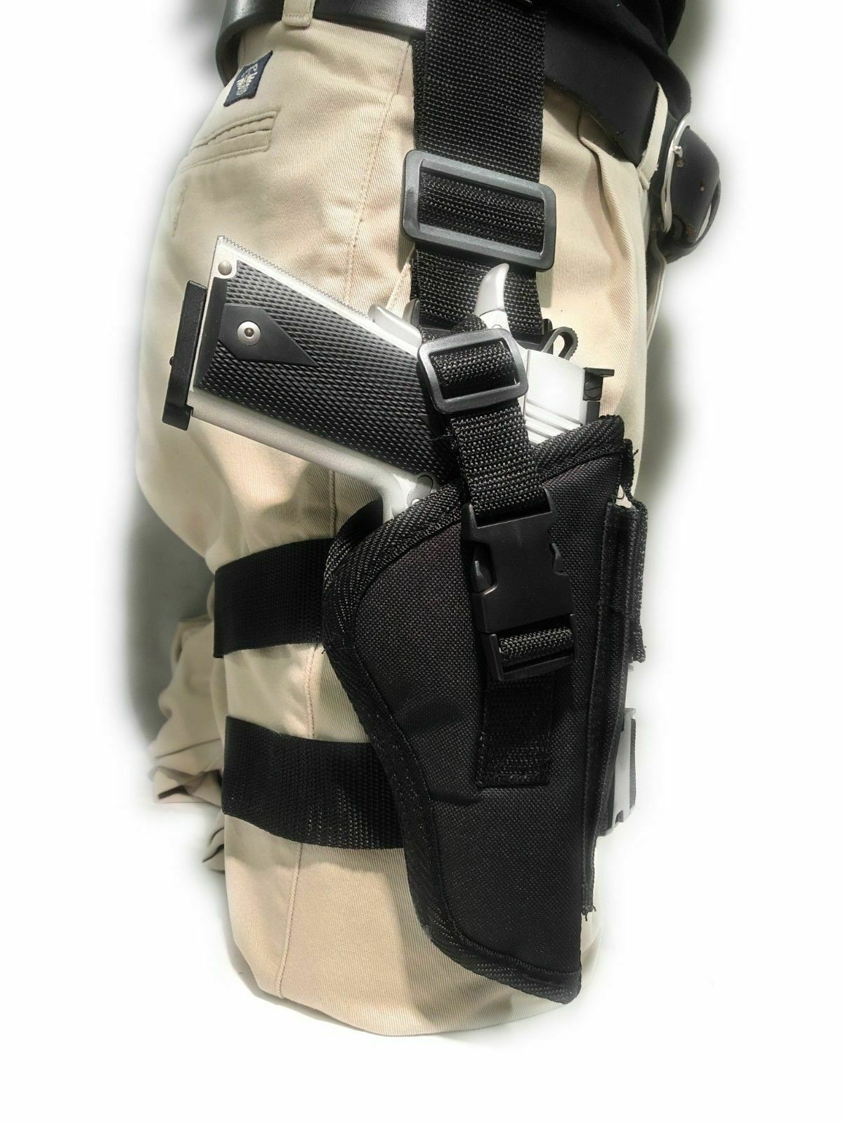 TACTICAL DROP LEG THIGH HOLSTER WITH MAGAZINE CARRIER- Choose Your Gun