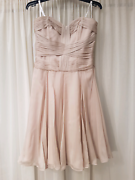 Silk, taupe colour Forever New cocktail dress  Middle Swan Swan Area Preview