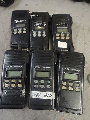 Lot Of 6 Ericsson Lpe-200 Trunking Portable Two Way Radio H9d85x