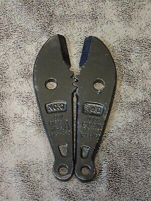 Vintage 0011c Hk Porter 0 Repl Jaws For Bolt Cutter - Cap 38 Soft 14 Hard