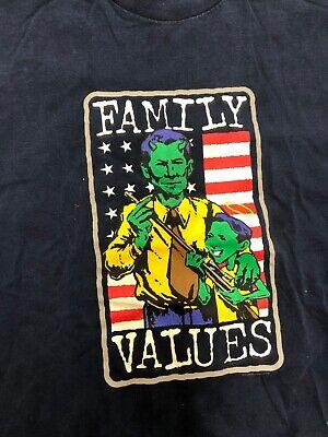 Vintage T Shirt - 1998 Family Values Tour NOS Size XL Navy Korn Limp Bizkit
