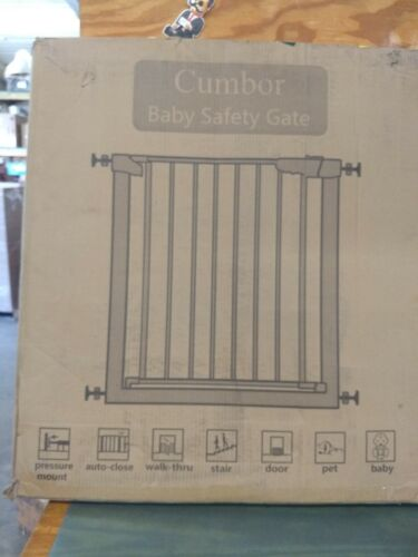 """Cumbor 43.3""""Auto Close Safety Baby Gate, Extra Tall and Wide Child Gate"""