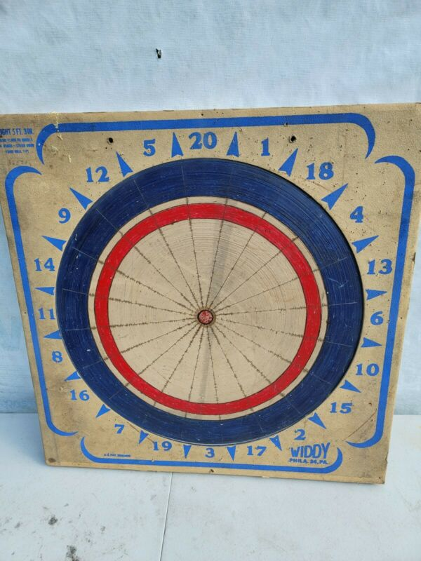 Vintage Widdy Official Tournament Paper Dart Board 2 Sided 1974 Philly PA
