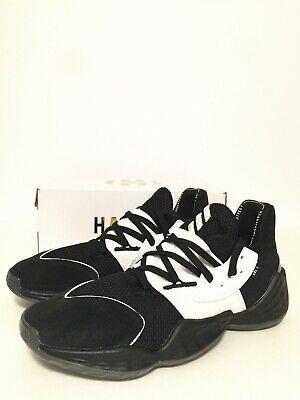 NIB MEN'S ADIDAS HARDEN VOL.4 BASKETBALL SHOES Black/FootwearWhite/Core Black 12