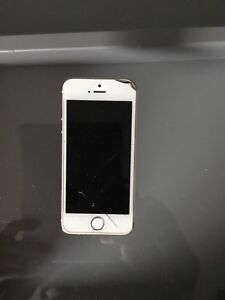 iPhone 5s rose gold fido cracked screen