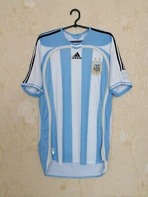 Argentina national team 2006 - 2007 home football shirt jersey Adidas size M image