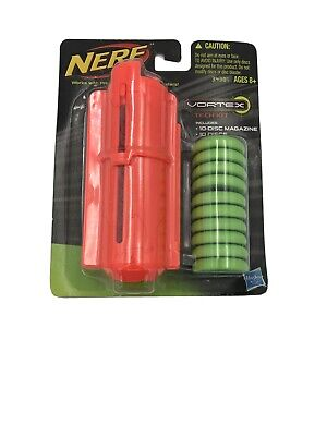 NEW Nerf Vortex Tech Kit, 10 Discs For Nitron & Praxis Blasters Magazine NIB NIP