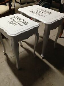 Set of 2 Antique custom finished tables  London Ontario image 7