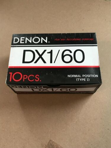 Sealed box of 10 New Sealed Denon DX1 60 Cassette Tapes Made in Japan