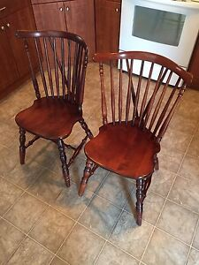 Solid wood antique chairs from England (make me an offer!)