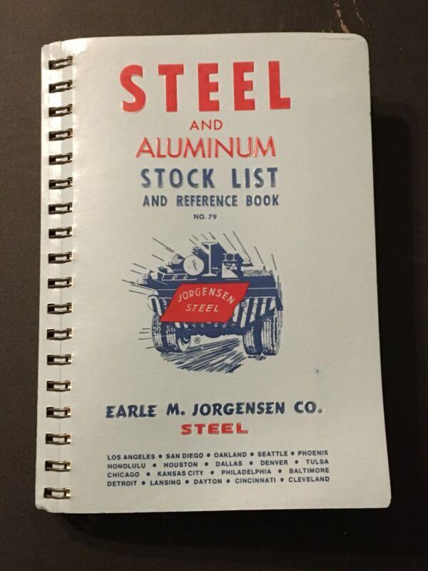 Vintage Jorgensen Steel Aluminum Stock List and Reference Book 1979
