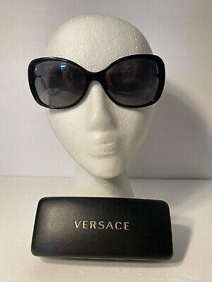 Versace MOD 4303 GB1/T3 Square Black Gray Polarized Sunglasses 58-17-140 3P