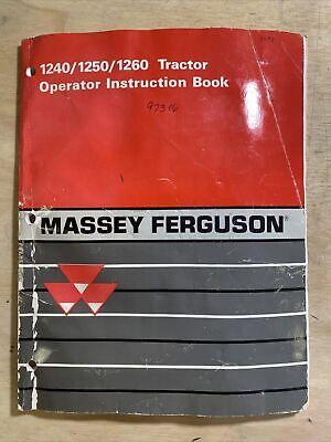 Massey Ferguson 124012501260 Tractor Operator Instruction Book