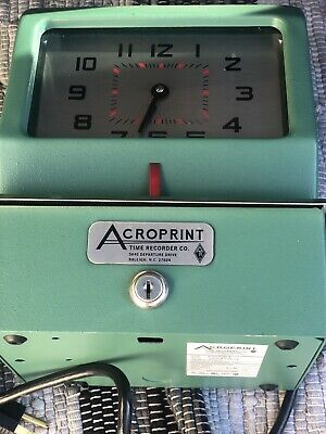 Vintage Acroprint 150nr4 Electric Time-clock Print Time Recorder.