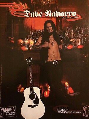 The Panic Channel, Dave Navarro, Yamaha Guitars, Full Page Promotional Print Ad for sale  Shipping to India