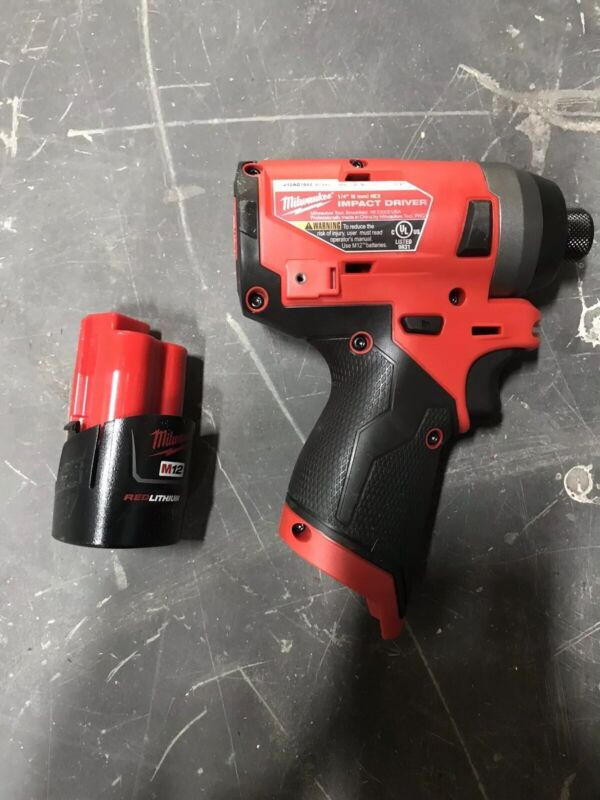 New Milwaukee 2553-20 M12 12v FUEL 1/4 Brushless Impact Drill Driver 2.0 Battery