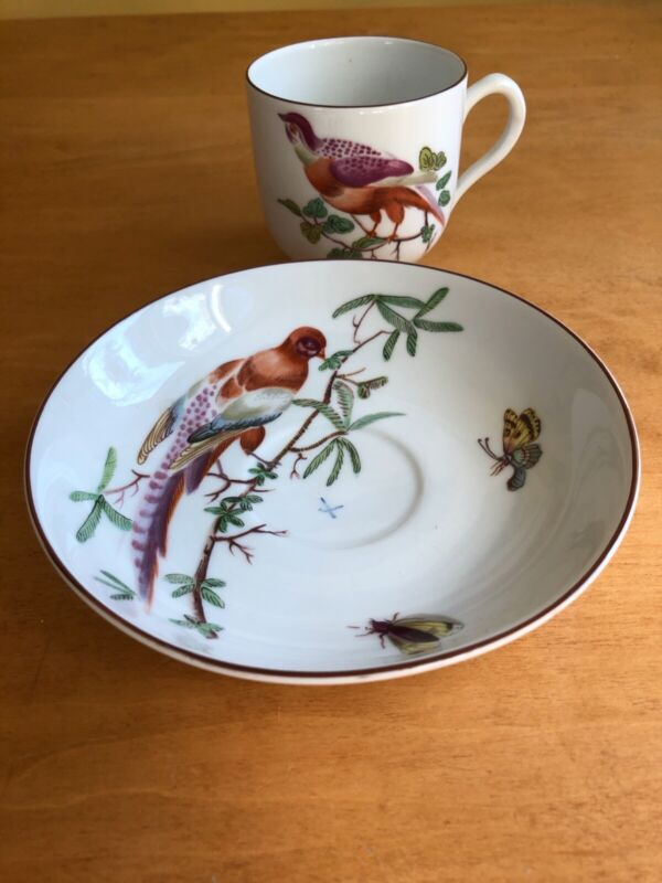 Mottahedeh Tea Cup & Saucer for Williamsburg. Interpreted Chelsea Plate 1765