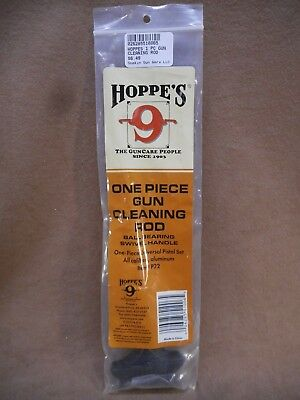 HOPPE'S ONE PIECE GUN CLEANING ROD ALL CALIBERS, ALUMINUM #P22