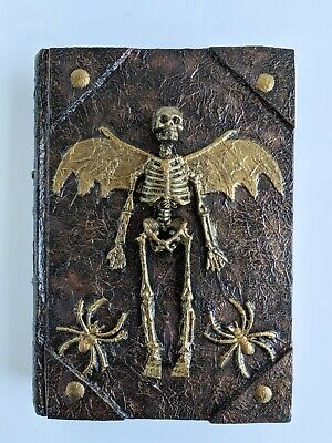 Halloween Spell Book (Halloween Spell Book - Altered Hardback Book - OOAK Skeleton Spells)