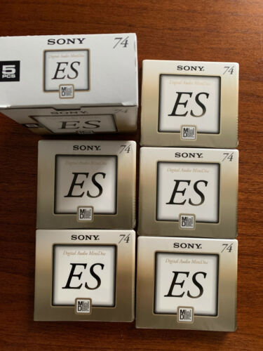 SONY Mini Disc ES Series 5pcs. Brand New - Made in Japan  Sony Minidisc