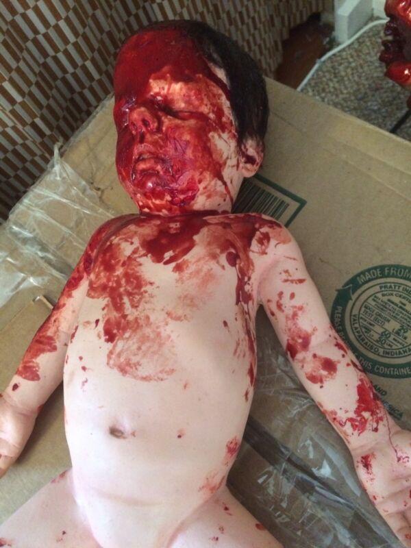 Mutilated Dead Toddler Gore Horror Film Prop Halloween