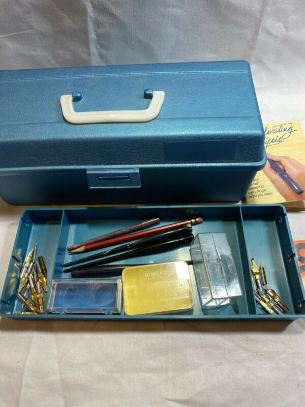 Vintage Speedball Artist Pen Lettering Set fountain pen - w/ extras ART F4