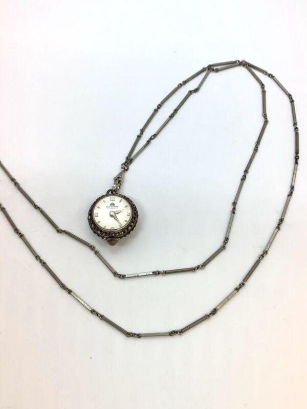 Vintage Bucherer 17 Jewels Ball Pendant Watch