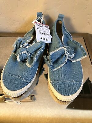 Zara Kids girls Shoes Size 33/ US 12.5 Brand New With Tags, Denim Slip Ons