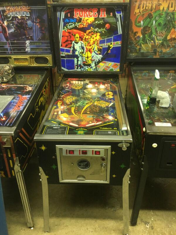 Gottlieb Force II Pinball Machine, Rare, 100% working and great shape!