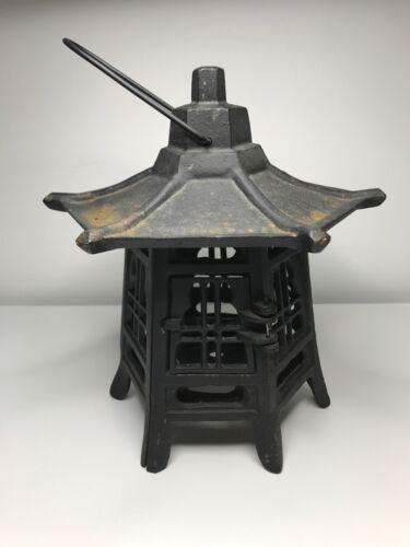 Cast Iron Lantern - Heavy Pagoda Lantern - Hinged Door - Asian Style Lantern!