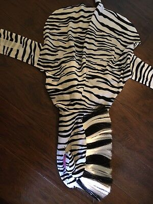 Dog Zebra Costume With Real Looking Hair Large - Real Looking Costumes