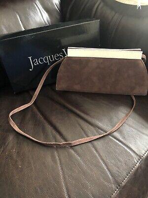 Jacques Vert handbag Suede Brown Bag Clutch Hand Bag Cruise Races Wedding Bag