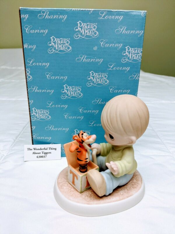 Precious Moments Figurine - The Wonderful Thing About Tiggers #630037: Pre-Owned
