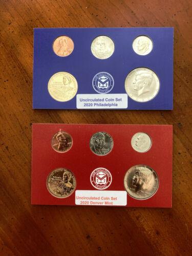 "2020 D P US Mint Set * Cent*Nickel*Dime*Kennedy*Dollar US Coin ""BU"" - 10 Pcs"