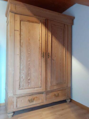 Antiker Gründerzeit Kleiderschrank Garderobenschrank Dielenschrank Zerlegbar