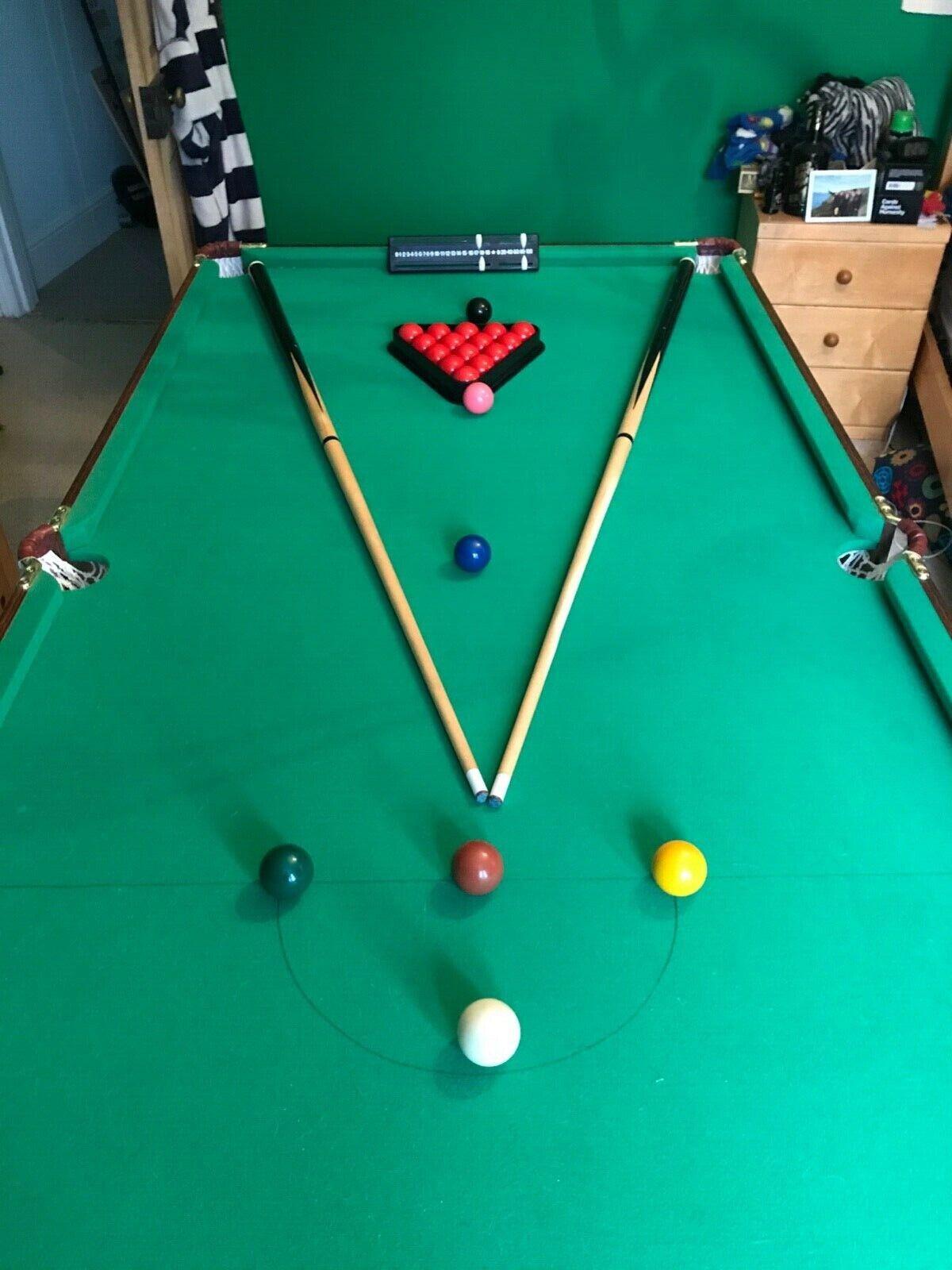 6ft x 3ft folding snooker / pool table
