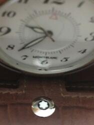 MONTBLANC CROCODILE GRAIN Travel Pocket WATCH, Alarm, Clock SWISS MADE 7056