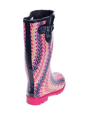 Women Warm Waterproof Rubber Rain Boots * Faux Fur Lined & Knit ...