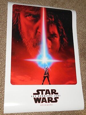 """Star Wars The Last Jedi """"FRENCH VER A"""" 27x40 Original D/S Movie Poster"""