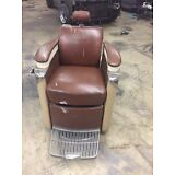 RARE VINTAGE 1950 KOKEN PRESIDENT BARBER CHAIR DECO STYLE- Missing parts
