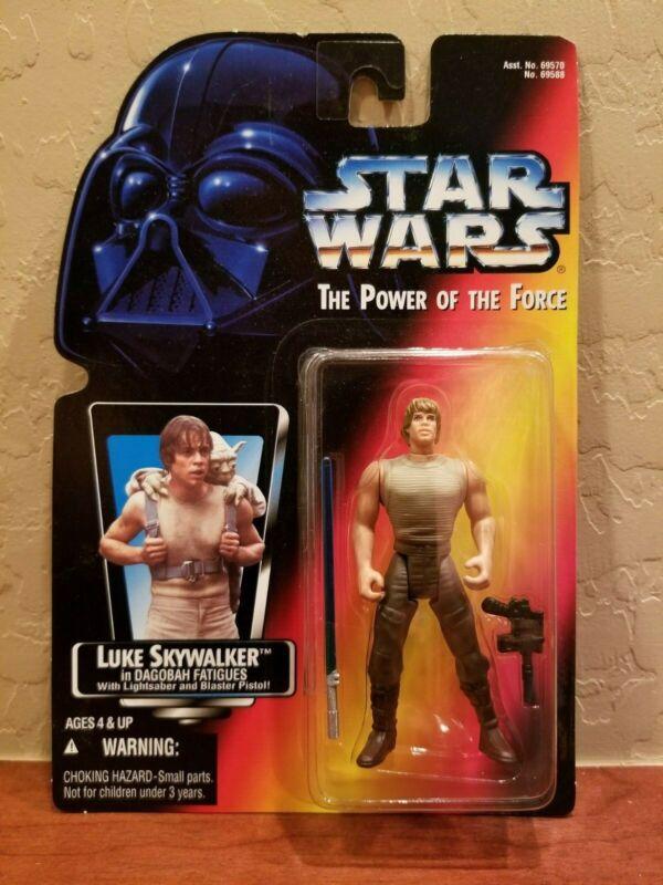 Star Wars POTF2 Luke Skywalker Dagobah long saber LOOSE COMPLETE MINT