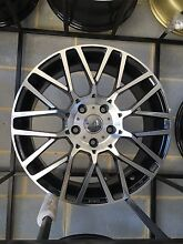 "Nissan Tiida 17"" momo wheels machined black Tyres sale on Rockdale Rockdale Area Preview"