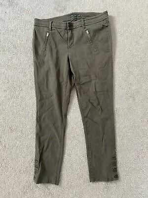 Anthropologie LEVEL 99 Pants sz 32 Olive Green Cotton LYOCELL *MISSING BUTTON