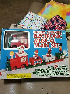 Vintage Yuletide Concepts Electronic Musical Train Set Battery Operated 1985