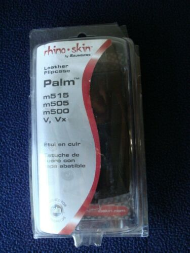 Rhino Skin Leather Flipcase for Palm m515, m505, m500 NEW
