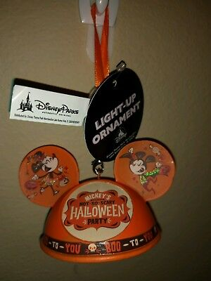 Mickey's Not So Scary Halloween Party 2018 Ear Hat Pumpkin Ornament Disney Parks