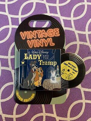 Disney Lady And The Tramp Vintage Vinyl LE 3000 Slider Pin