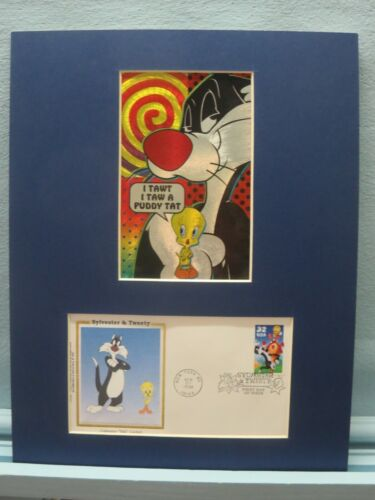 Saluting Sylvester & Tweety Bird & First Day Cover of their own stamp