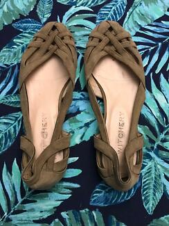 Witchery Tan Flats size 37