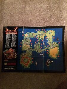 Breath of Fire 1 and 2 rare SNES maps London Ontario image 1